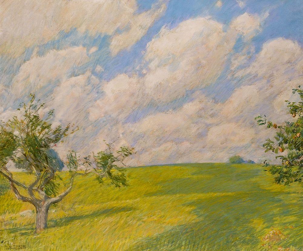 konfigurieren des Kunstdrucks in Wunschgröße September Clouds von Hassam, Childe