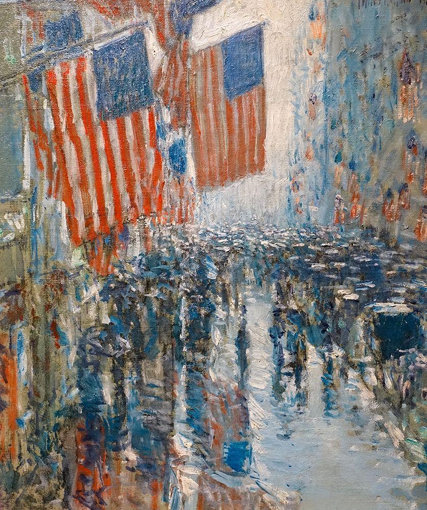 konfigurieren des Kunstdrucks in Wunschgröße Rainy Day-Fifth Avenue von Hassam, Childe