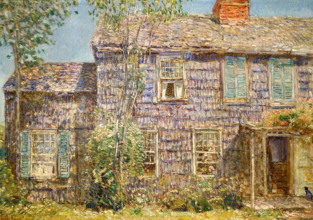 konfigurieren des Kunstdrucks in Wunschgröße Old House-Easthampton-Long Island von Hassam, Childe