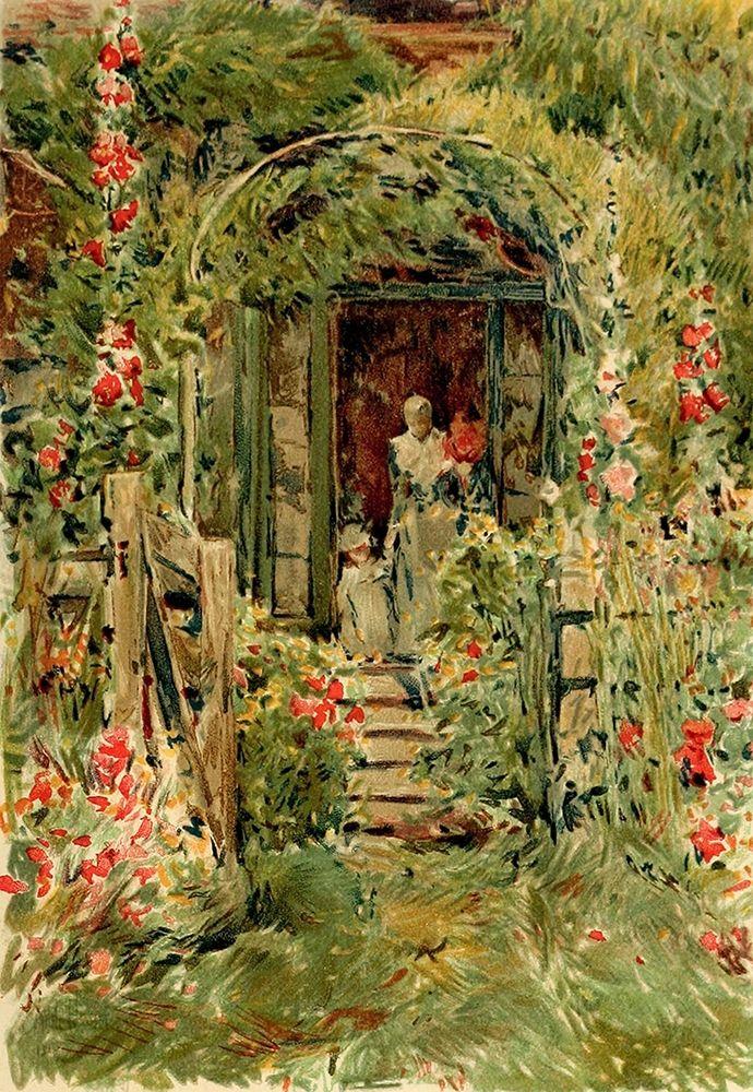 konfigurieren des Kunstdrucks in Wunschgröße Garden in Its Glory von Hassam, Childe