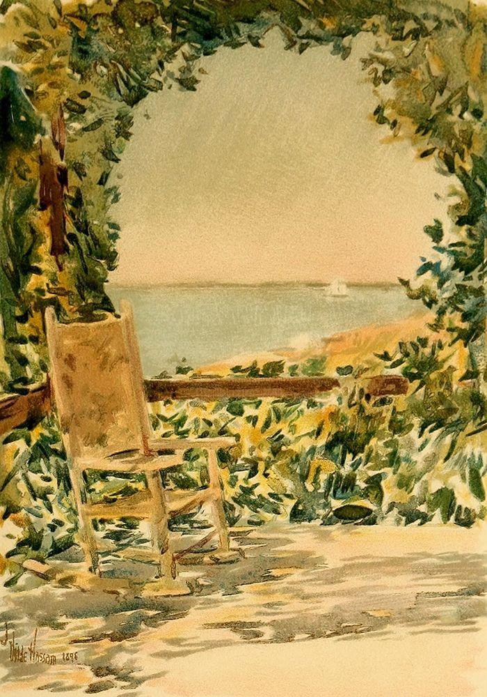 konfigurieren des Kunstdrucks in Wunschgröße Sunny Chair von Hassam, Childe