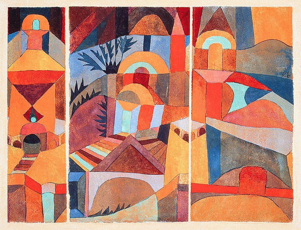 konfigurieren des Kunstdrucks in Wunschgröße Temple Gardens von Klee, Paul