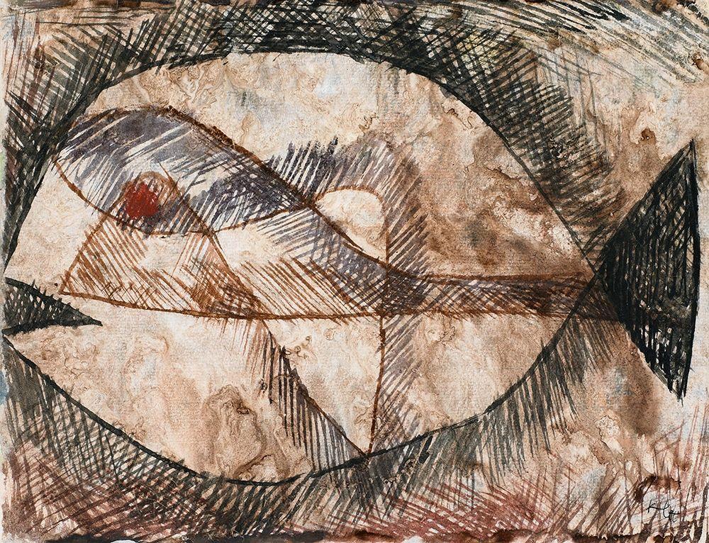 konfigurieren des Kunstdrucks in Wunschgröße CC Fisch von Klee, Paul