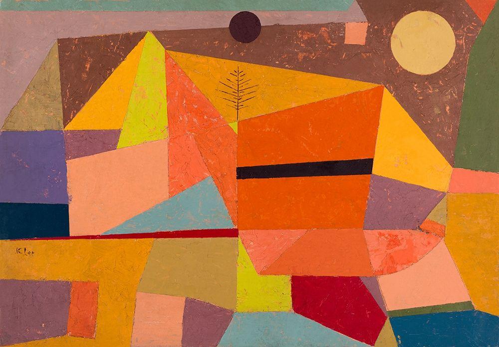 konfigurieren des Kunstdrucks in Wunschgröße Joyful Mountain Landscape von Klee, Paul