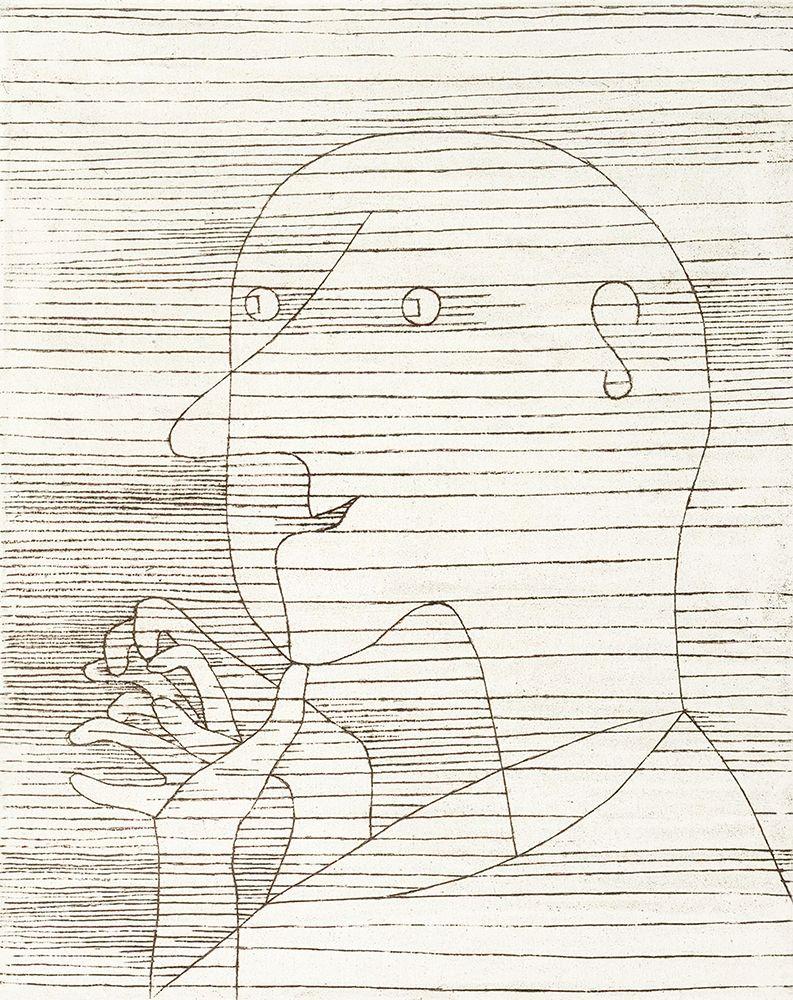 konfigurieren des Kunstdrucks in Wunschgröße Old Man Counting on his Fingers von Klee, Paul
