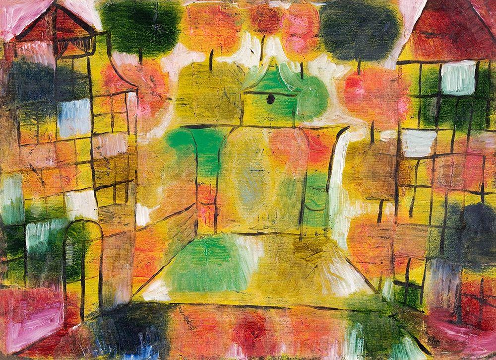 konfigurieren des Kunstdrucks in Wunschgröße Tree and Architecture|Rhythms von Klee, Paul