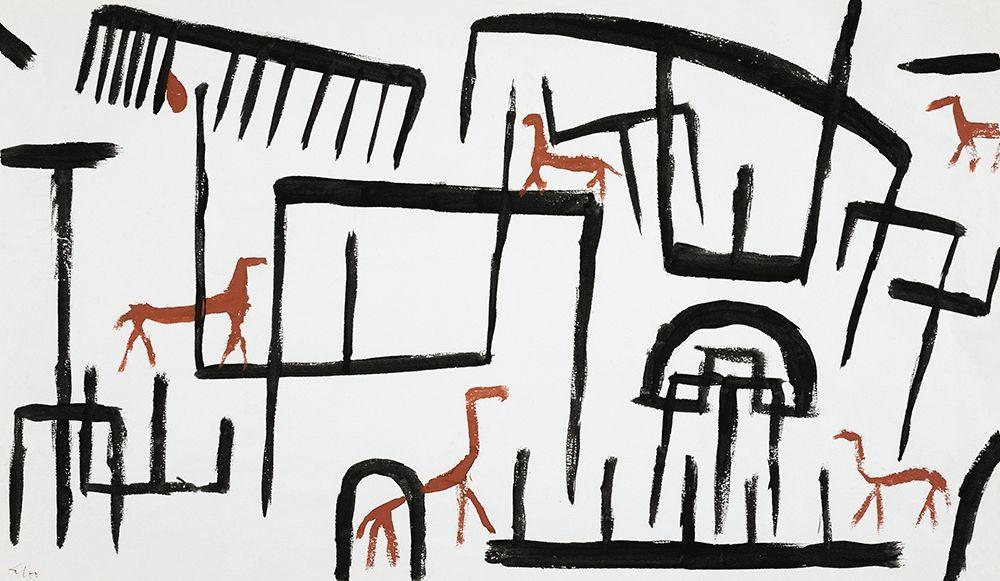 konfigurieren des Kunstdrucks in Wunschgröße Animals in an Enclosure von Klee, Paul