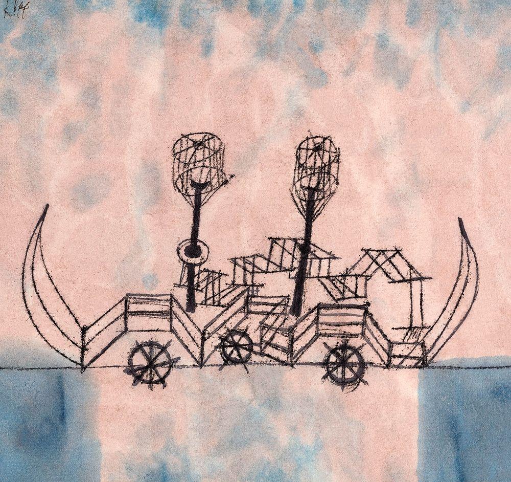 konfigurieren des Kunstdrucks in Wunschgröße Old Steamboat von Klee, Paul