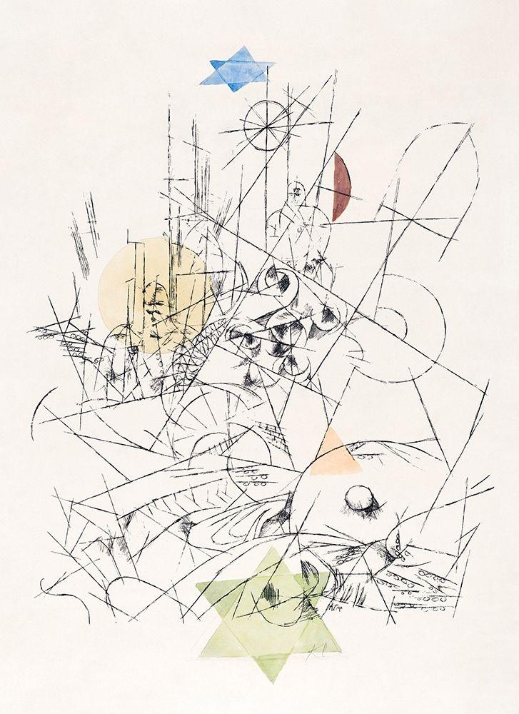 konfigurieren des Kunstdrucks in Wunschgröße Hope and Destruction von Klee, Paul