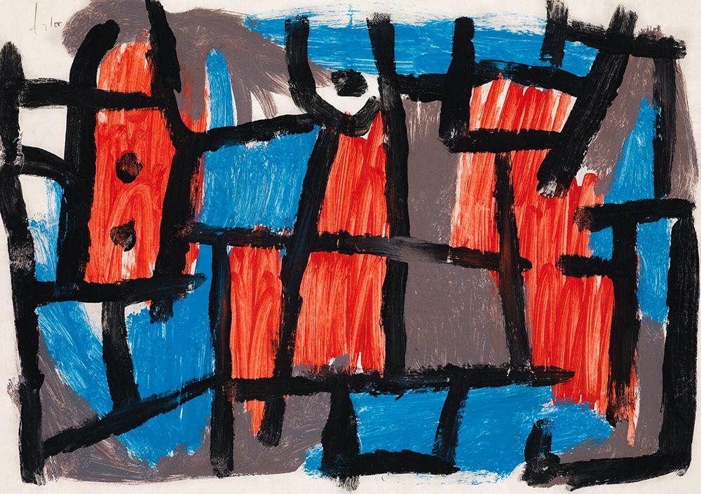 konfigurieren des Kunstdrucks in Wunschgröße The Hour Before One Night von Klee, Paul