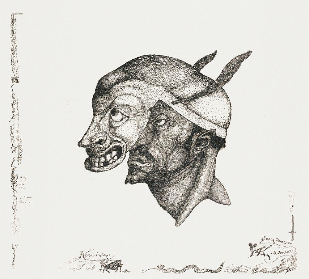 konfigurieren des Kunstdrucks in Wunschgröße Komiker von Klee, Paul