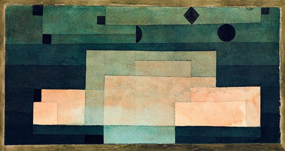 konfigurieren des Kunstdrucks in Wunschgröße The Firmament Above the Temple von Klee, Paul