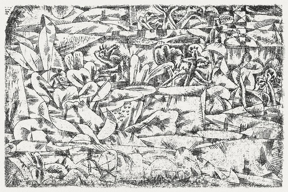 konfigurieren des Kunstdrucks in Wunschgröße Garden of Passion von Klee, Paul