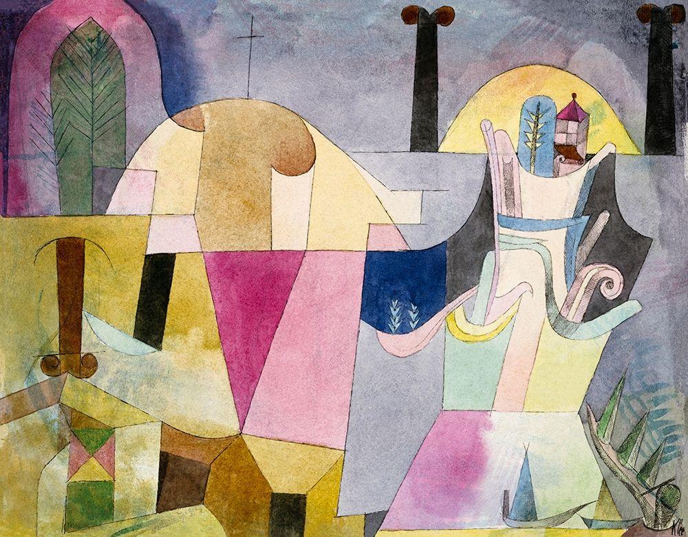 konfigurieren des Kunstdrucks in Wunschgröße Black Columns in a Landscape von Klee, Paul
