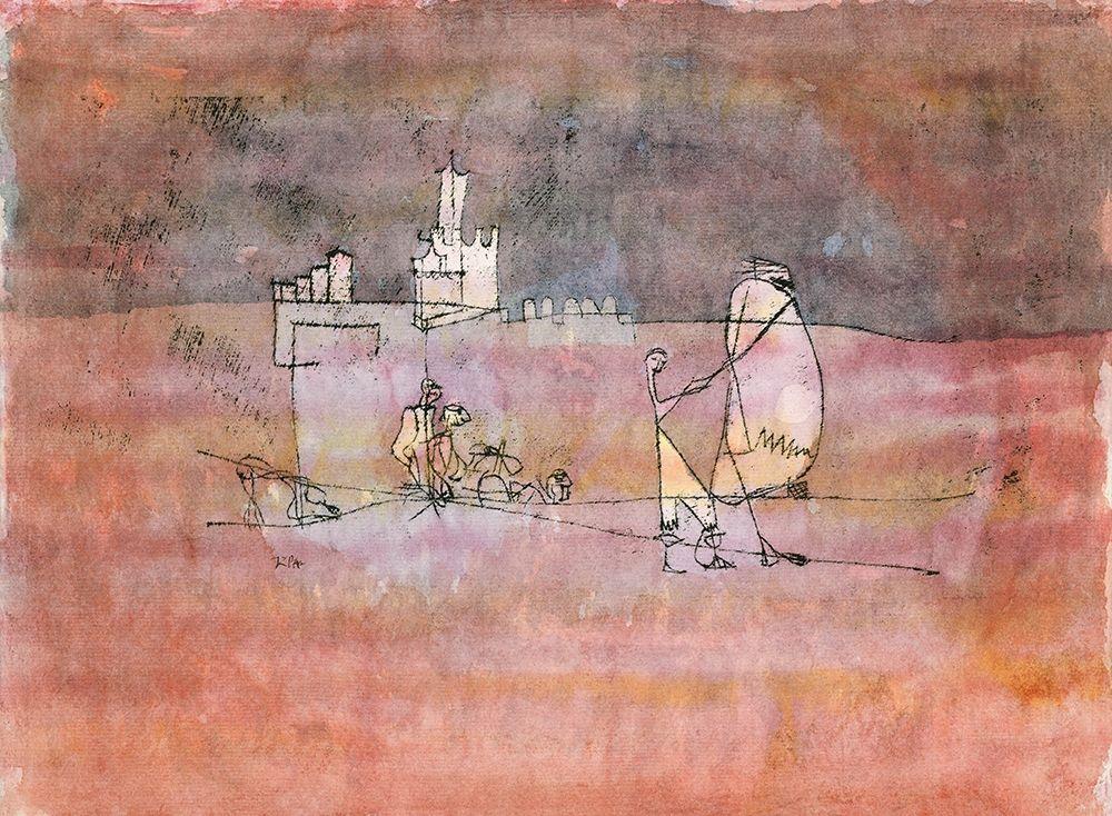 konfigurieren des Kunstdrucks in Wunschgröße Episode Before an Arab Town von Klee, Paul