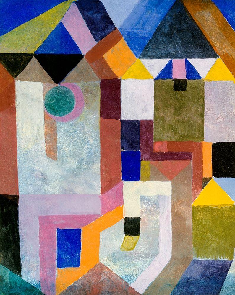 konfigurieren des Kunstdrucks in Wunschgröße Colorful Architecture von Klee, Paul