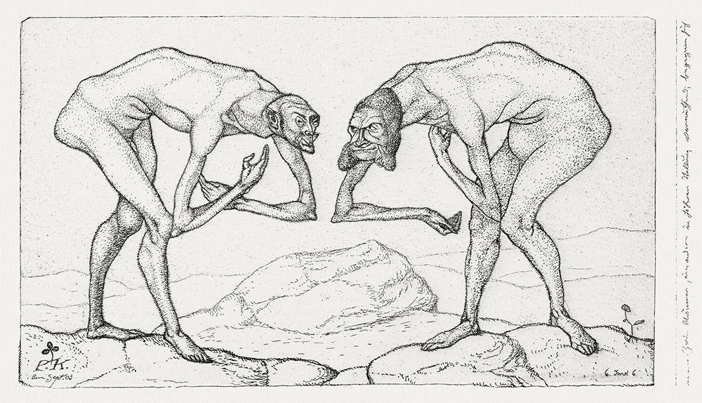 konfigurieren des Kunstdrucks in Wunschgröße Two Men Meet Each Believing the Other to Be of Higher Rank von Klee, Paul