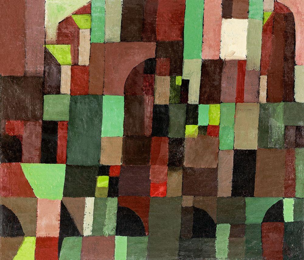 konfigurieren des Kunstdrucks in Wunschgröße Red and Green Architecture von Klee, Paul
