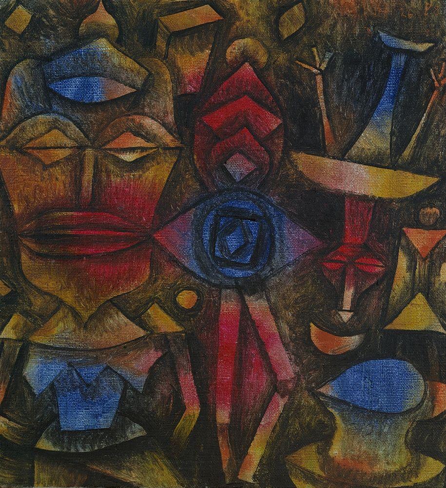 konfigurieren des Kunstdrucks in Wunschgröße Collection of Figurines von Klee, Paul