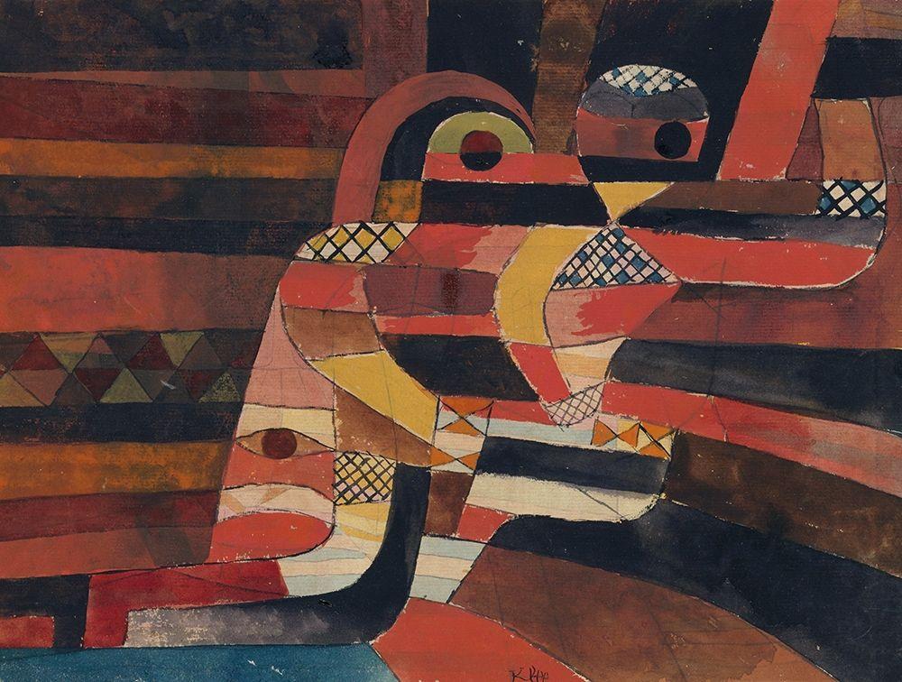 konfigurieren des Kunstdrucks in Wunschgröße Lovers von Klee, Paul