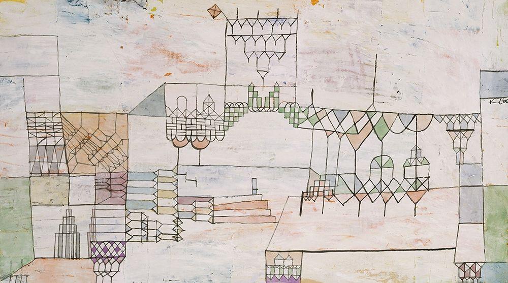konfigurieren des Kunstdrucks in Wunschgröße Great Hall for Singers von Klee, Paul