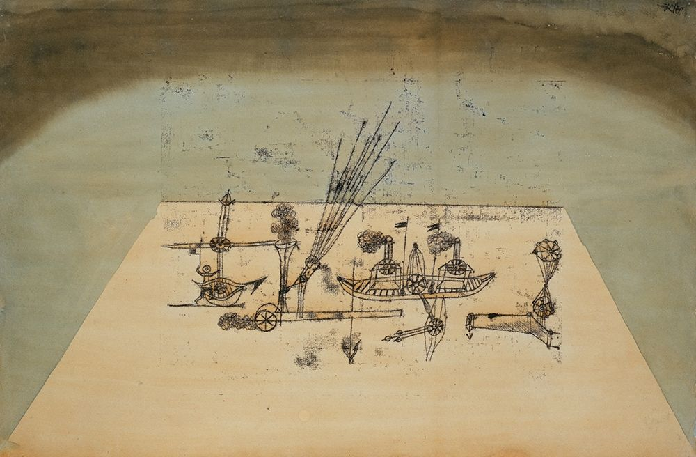 konfigurieren des Kunstdrucks in Wunschgröße Yellow Harbor von Klee, Paul