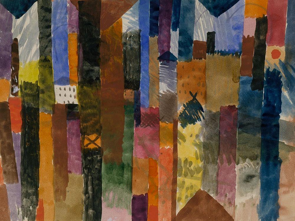 konfigurieren des Kunstdrucks in Wunschgröße Before the Town von Klee, Paul