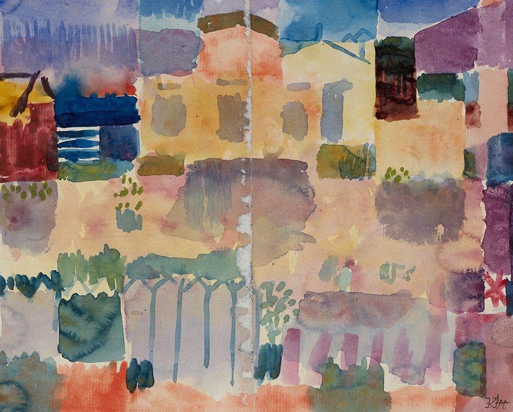konfigurieren des Kunstdrucks in Wunschgröße Garden in St. Germain|The European Quarter Near Tunis von Klee, Paul