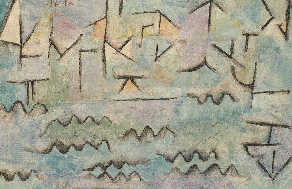 konfigurieren des Kunstdrucks in Wunschgröße The Rhine at Duisburg von Klee, Paul