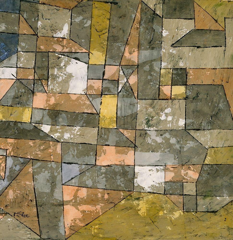 konfigurieren des Kunstdrucks in Wunschgröße North German City von Klee, Paul