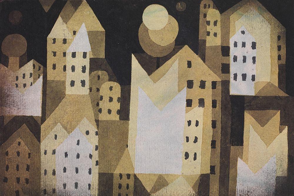 konfigurieren des Kunstdrucks in Wunschgröße Cold City von Klee, Paul