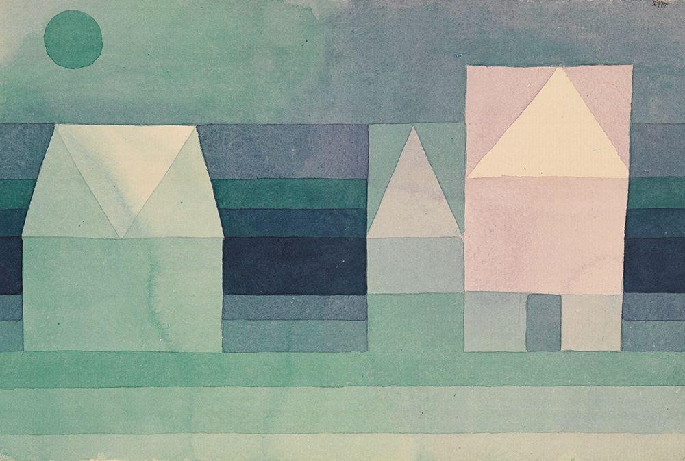 konfigurieren des Kunstdrucks in Wunschgröße Three Houses von Klee, Paul
