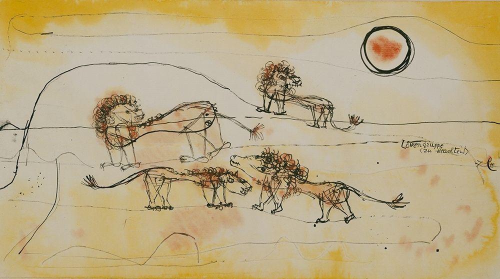 konfigurieren des Kunstdrucks in Wunschgröße A Pride of Lions von Klee, Paul
