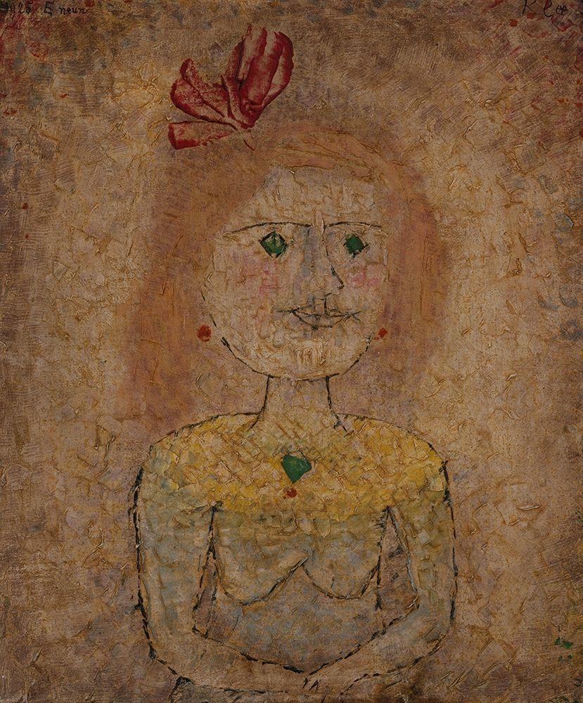 konfigurieren des Kunstdrucks in Wunschgröße Small Portrait of a Girl in Yellow von Klee, Paul