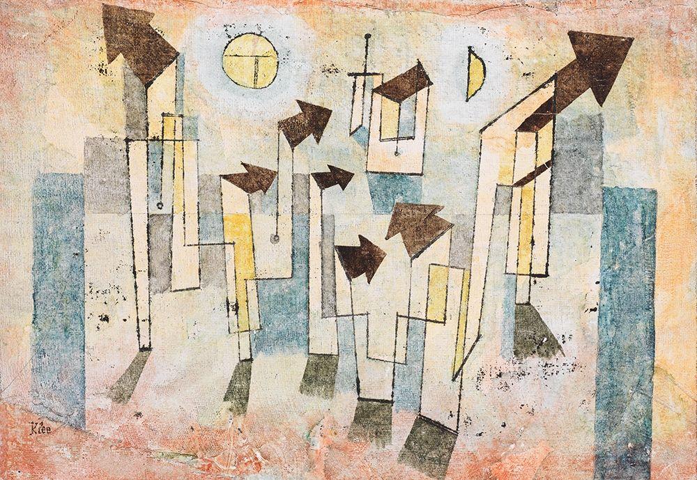 konfigurieren des Kunstdrucks in Wunschgröße Mural from the Temple of Longing von Klee, Paul