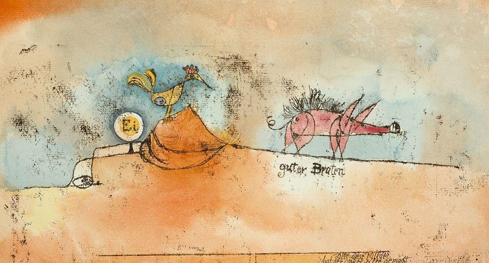 konfigurieren des Kunstdrucks in Wunschgröße Where the Eggs and the Good Roast Come From von Klee, Paul