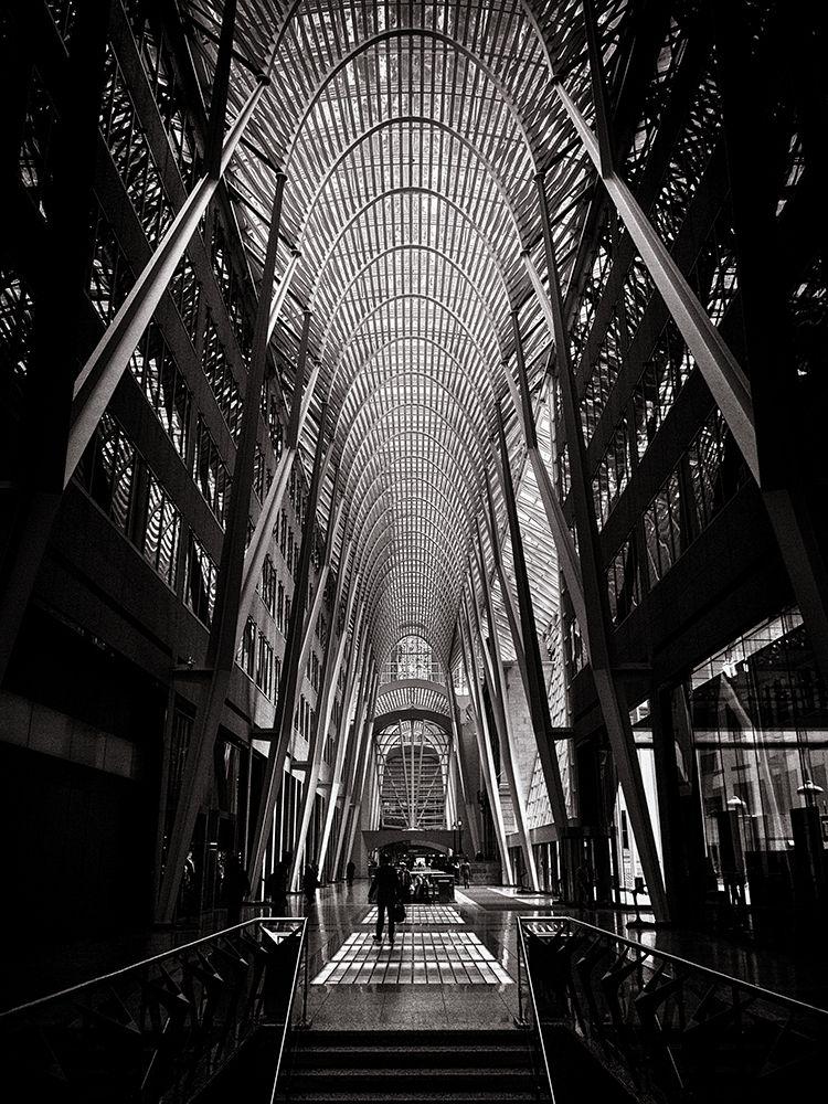 konfigurieren des Kunstdrucks in Wunschgröße Allen Lambert Galleria Toronto Black and White von Carson, Brian